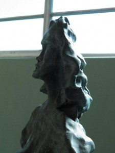 Orchard Woman Detail, Bronze