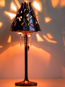 Sculpted Steel Table Lamp
