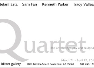 Quartet-Stefani Esta, Sam Farr, Kenneth Parker, Tracy Valleau. Special Evening with Sam Farr April 24, 5-7 pm
