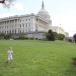Grandson on Capitol Lawn-Sam Farr