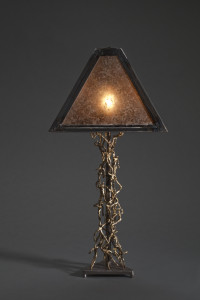 People Lamp- Mica, Direct Weld Bronze Rod