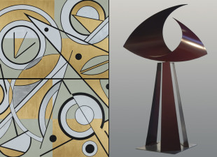 Ralph Joachim and Marilyn Kuksht-The Beauty of Abstract Form  Opening Reception First Friday September 5, 5-9 pm