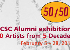 50/50-UCSC Alumni Exhibit- Opening First Friday February 6, 6-9pm
