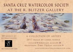 Santa Cruz Watercolor Society-August 4-26-First Friday August 4 5-9 pm